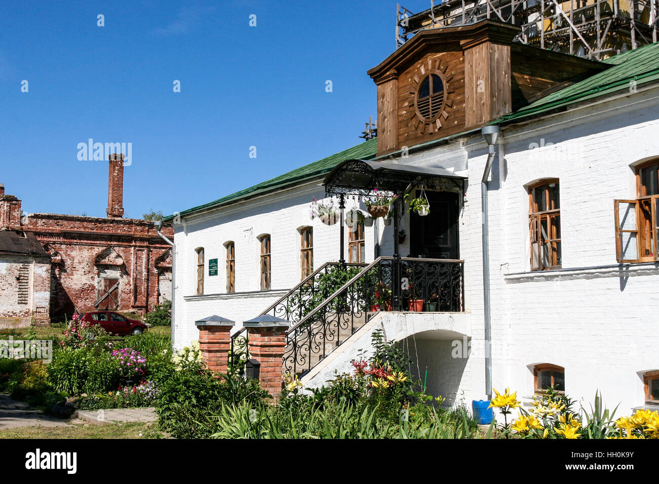 Building on the territory of the Monastery of the Deposition of the Robe, Russia, Suzdal - Stock Image