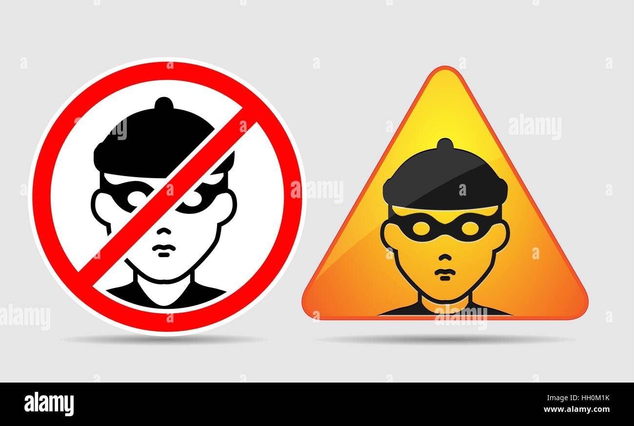 Signs - thief - Stock Vector