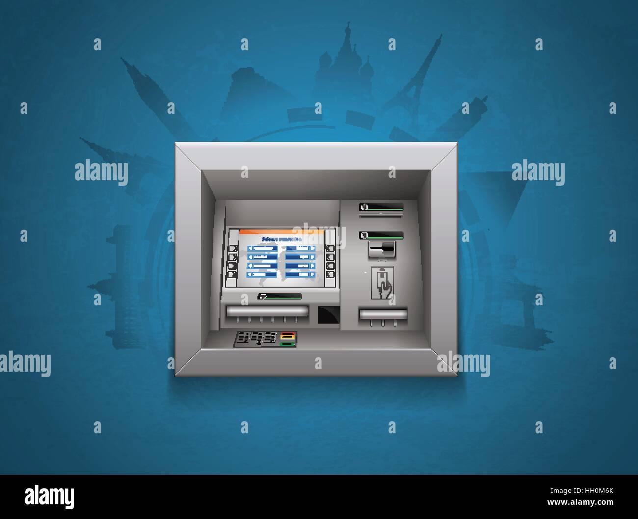 ATM - Automated teller machine - cash concept - Stock Image