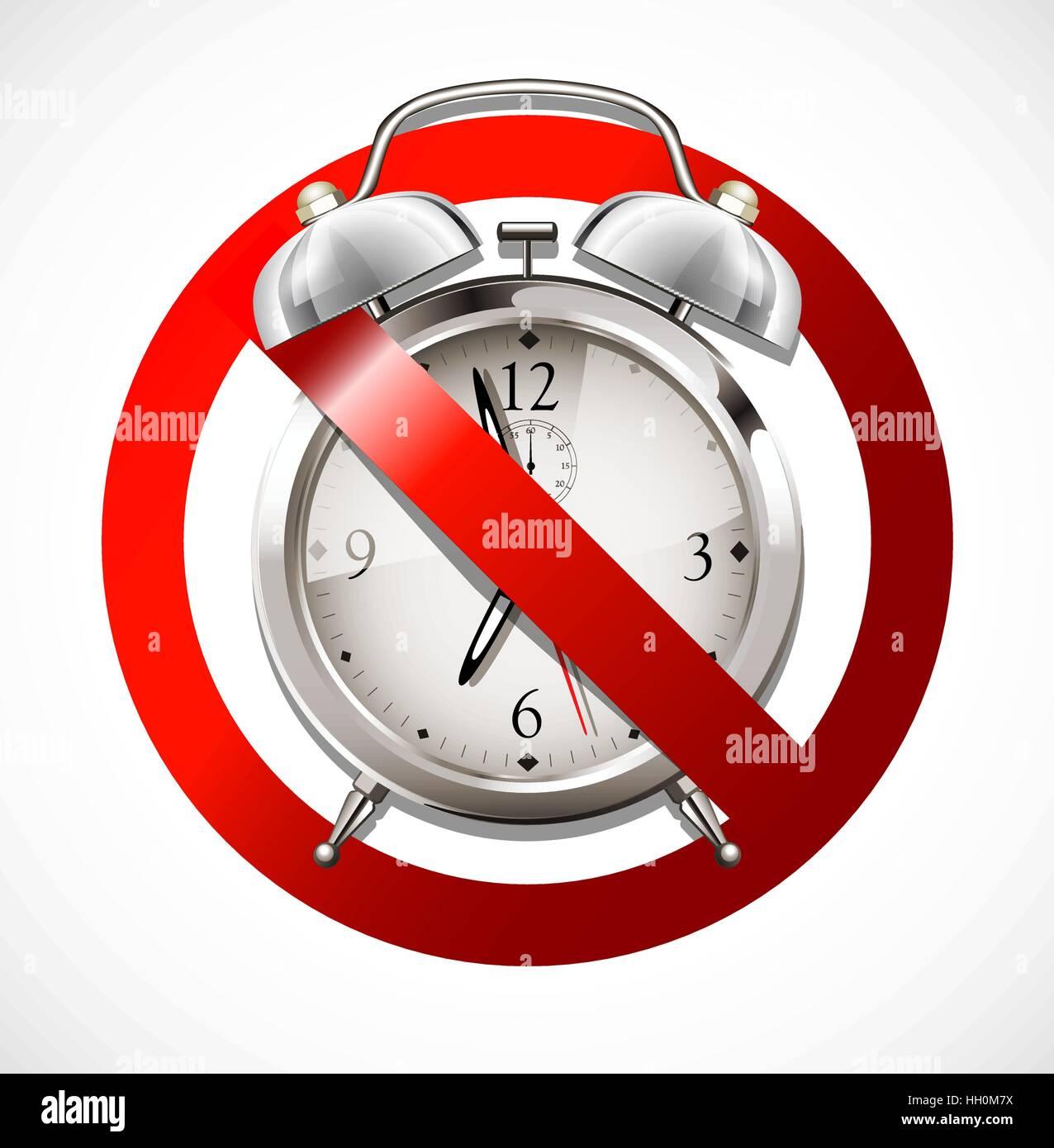 Alarm clock concept Stock Vector