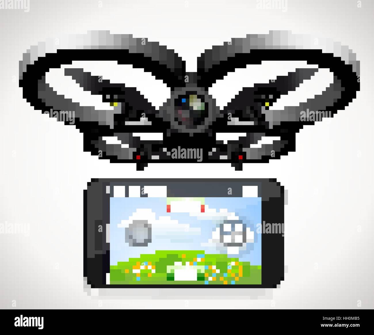 Drone flying school - Stock Image