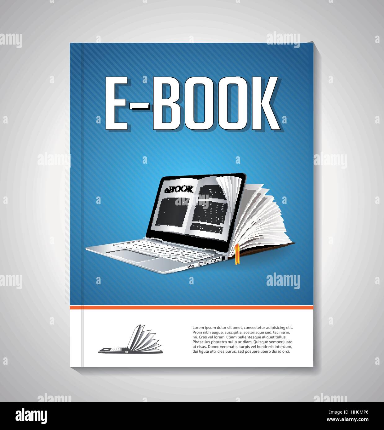 E-book cover design concept - Stock Image