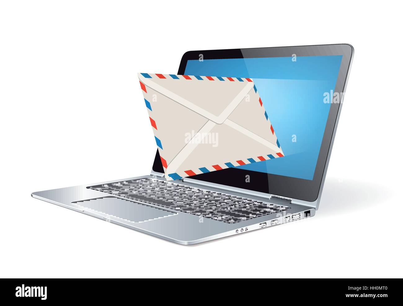 Newsletter - e-mail marketing concept - Stock Image