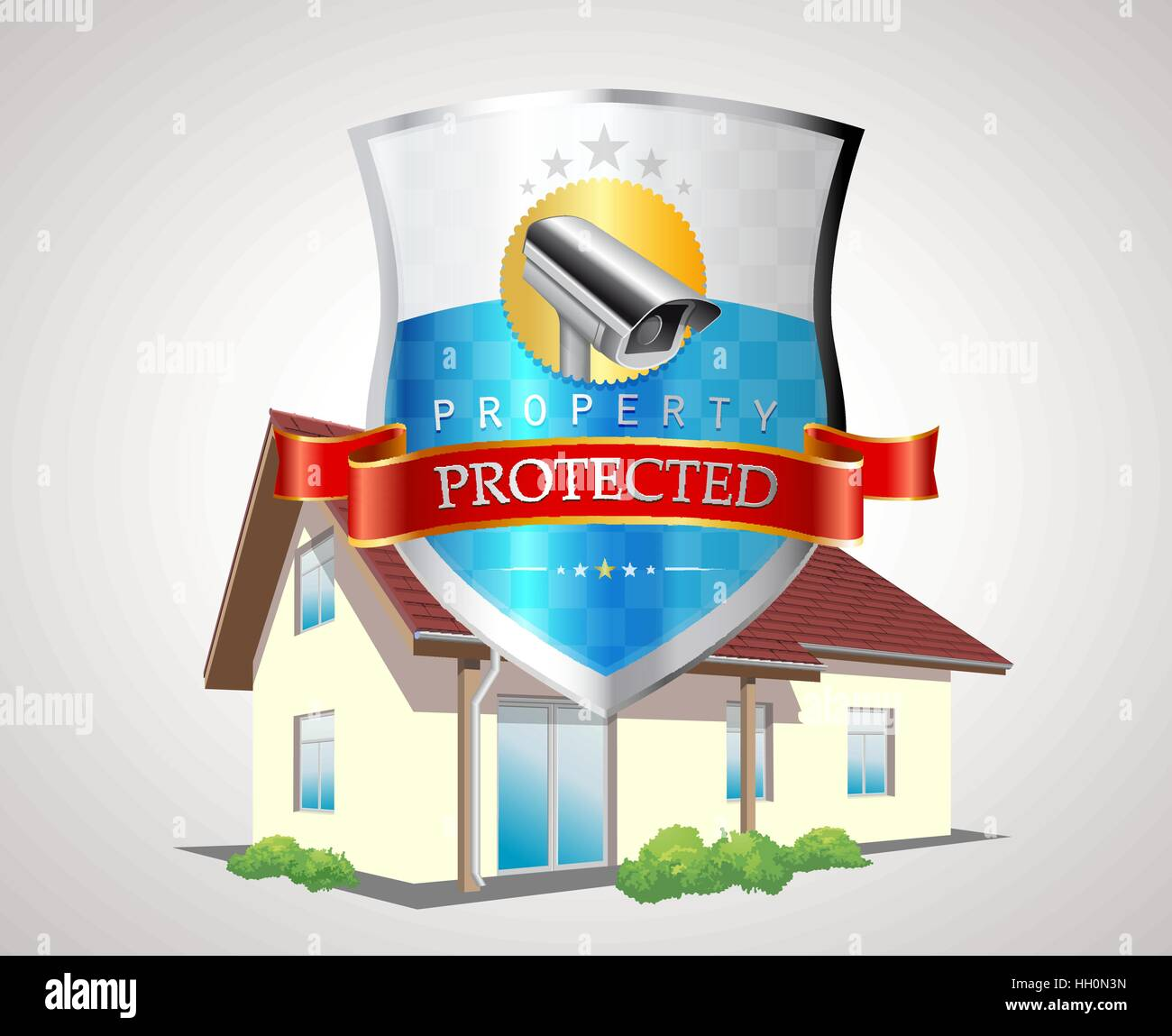Security camera - CCTV concept - Stock Vector