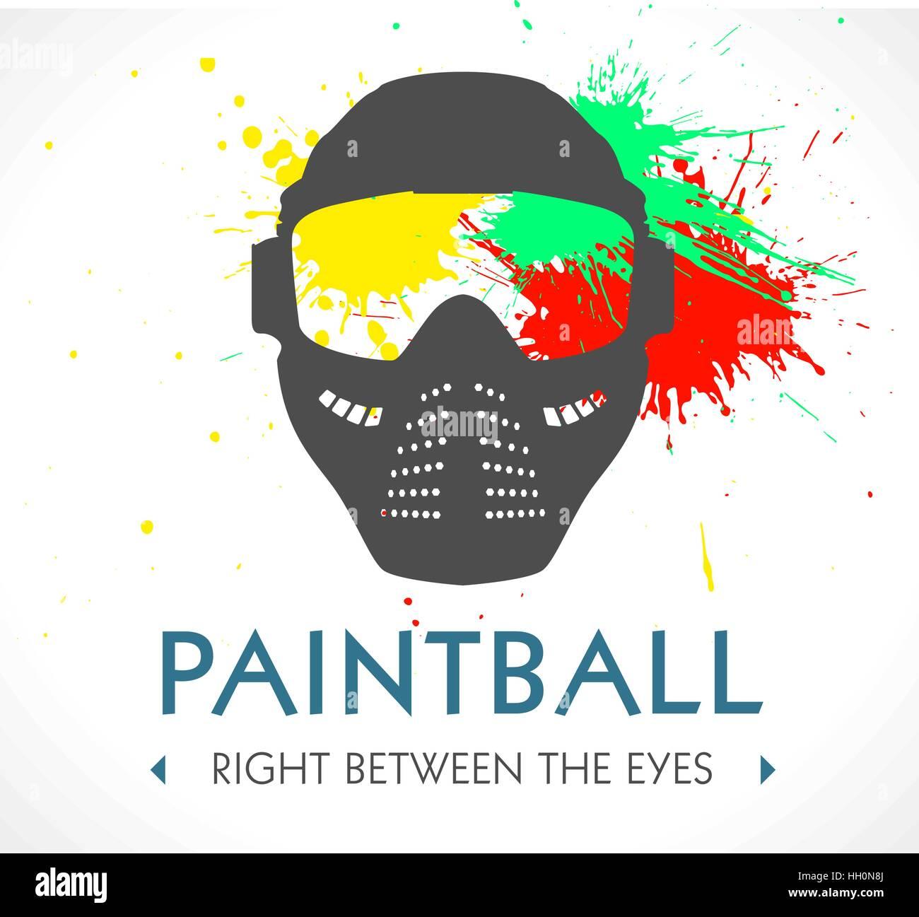 paintball logo stock vector art illustration vector image rh alamy com paintball bogota sur paintball bogota sur