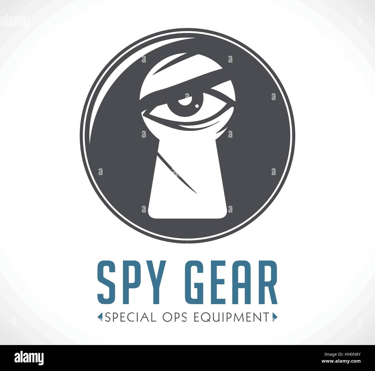 Spy shop logo concept - Stock Vector