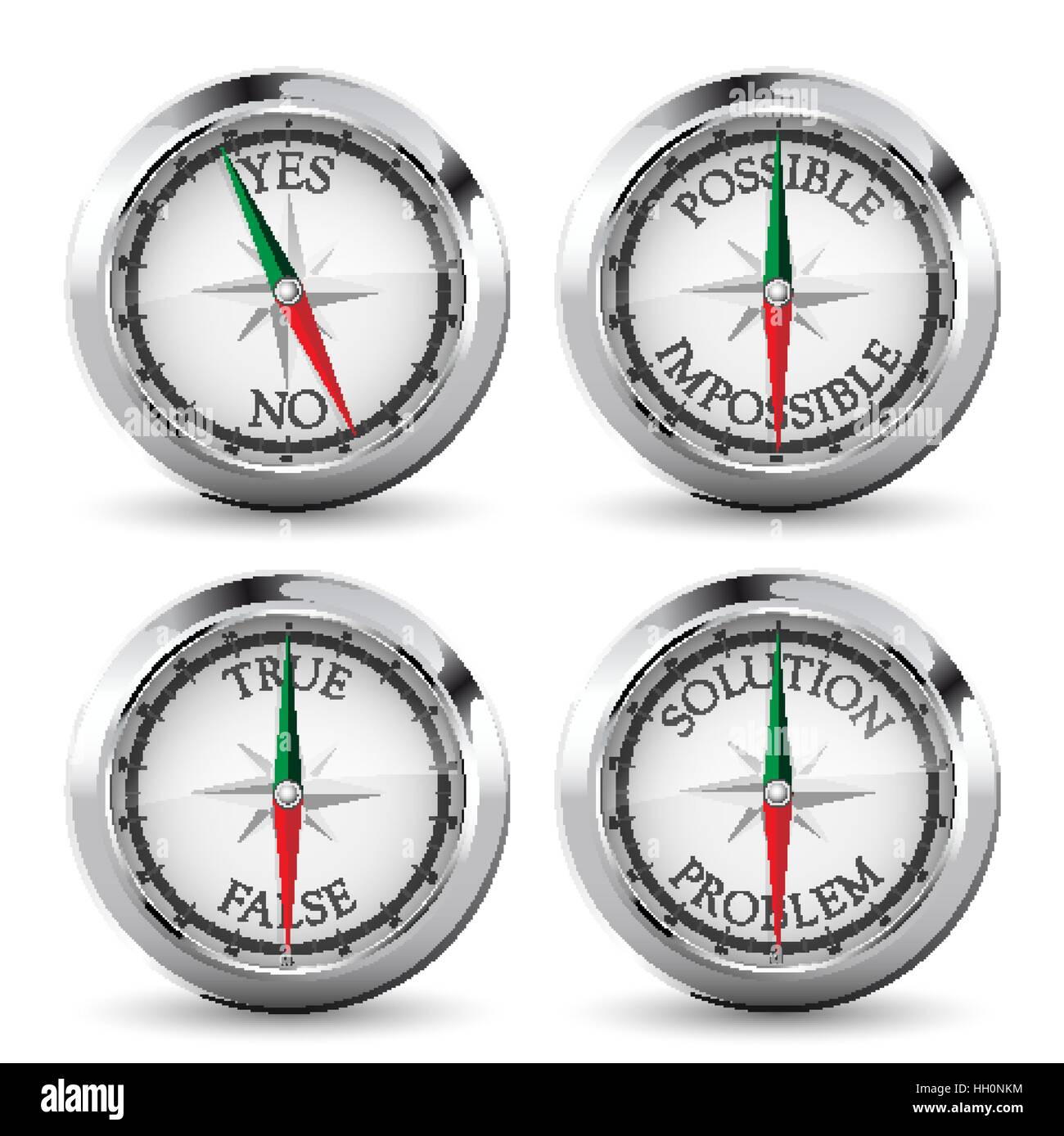Compass - right direction concept - Stock Vector