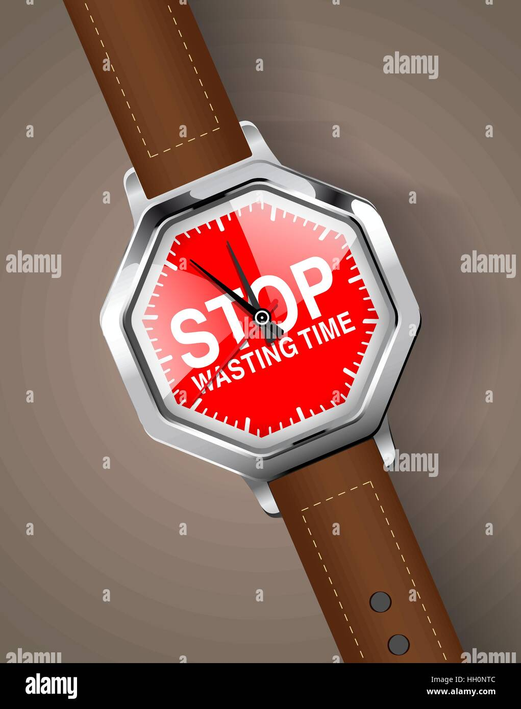 Stopwatch - Stop wasting time - Stock Image