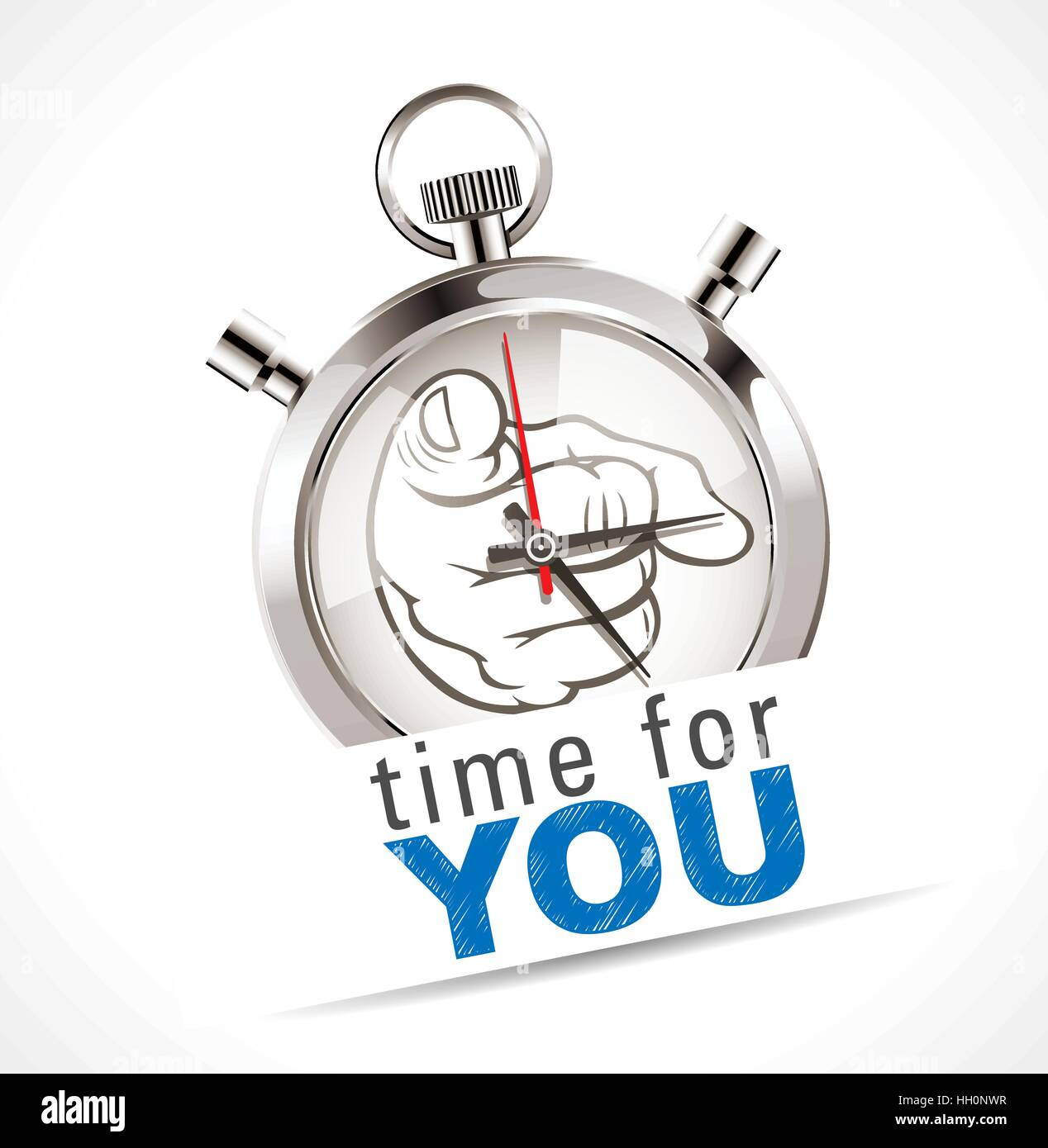 Stopwatch - time for YOU Stock Vector