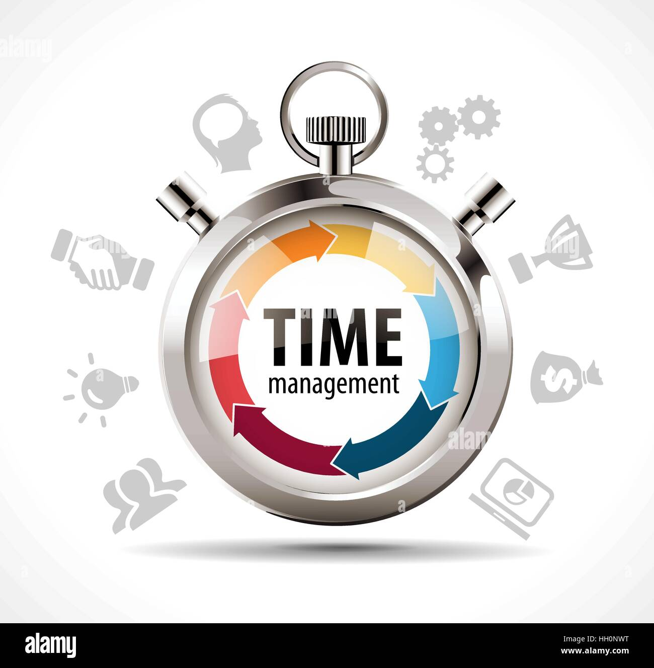 Stopwatch - time management concept - Stock Image