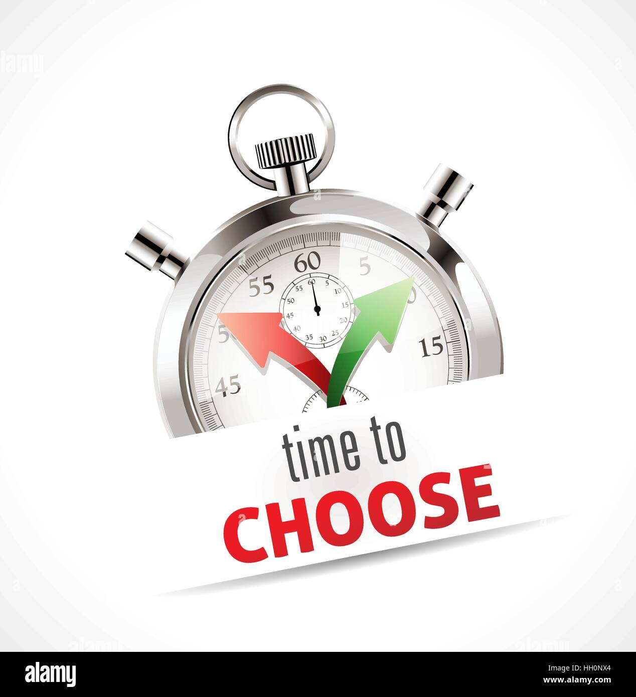 Stopwatch - time to choose - Stock Vector