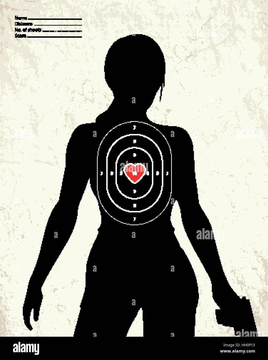 119376a127165 Dangerous armed woman - shooting range target Stock Vector Art ...