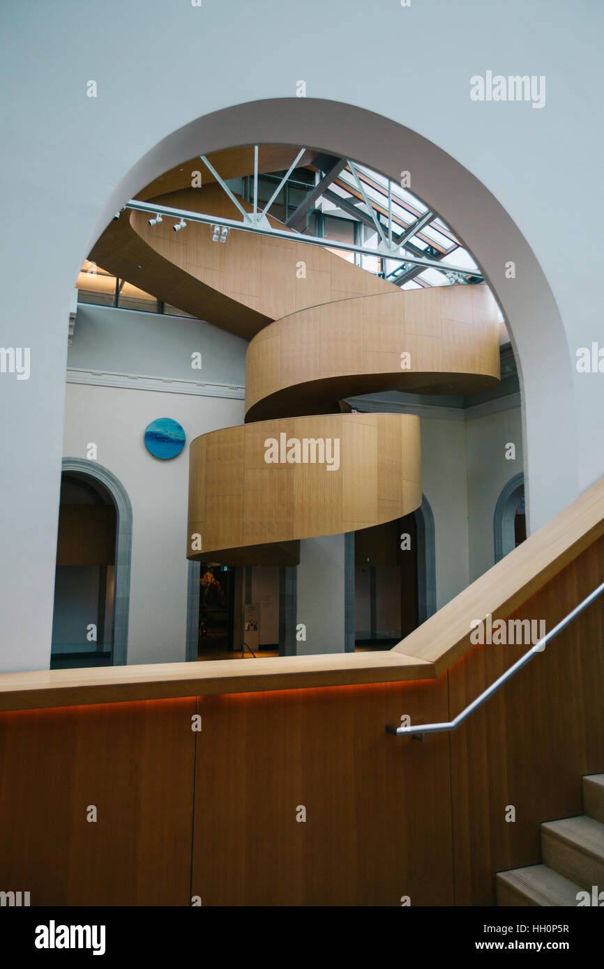Art gallery of ontario interior stair cases - Stock Image