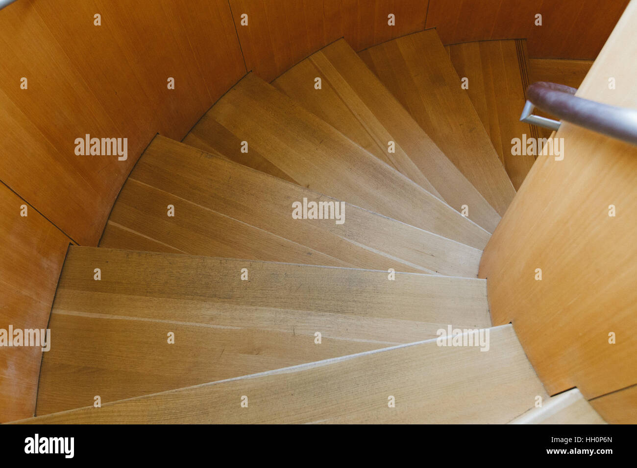 stair case steps looking down - Stock Image