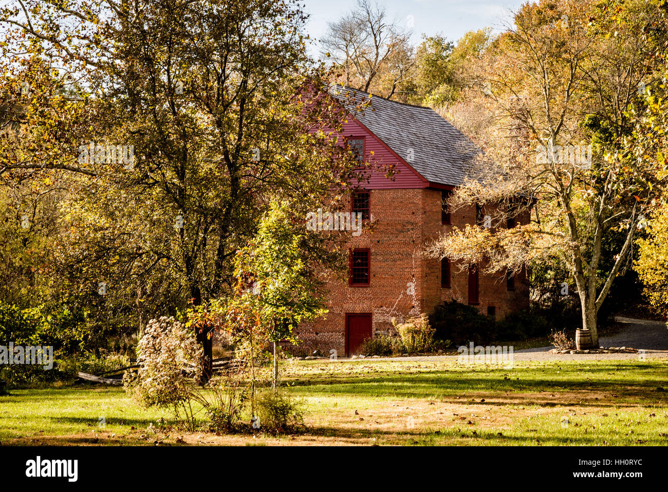 Colvin Run Mill, 10017 Colvin Run Road, Great Falls, Virginia - Stock Image