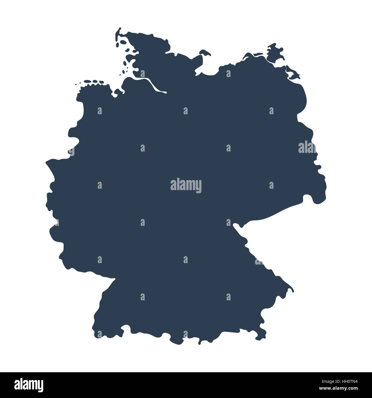 Map of Germany isolated on white background - Stock Vector