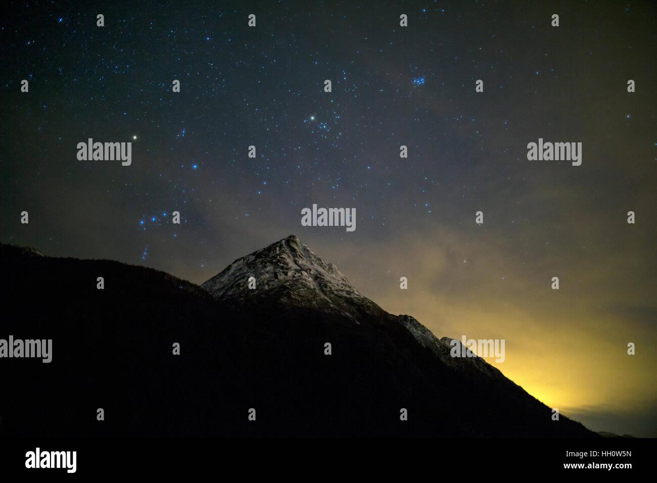 Stars of the night sky - Stock Image