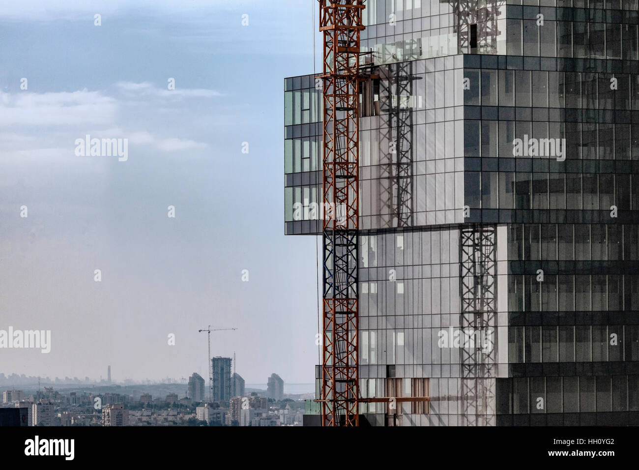 Modern, glass faced High rise building - Stock Image