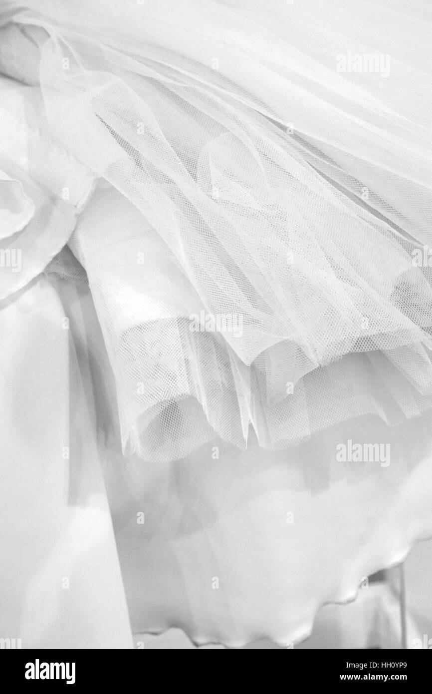 White wedding gowns - Stock Image