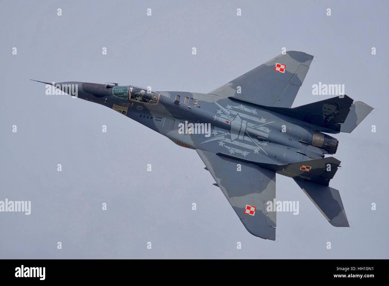 Polish Air Force MiG-29 at the Royal International Air Tattoo - Stock Image