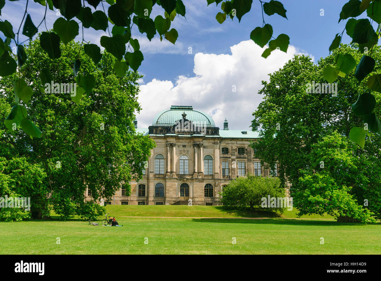Dresden: Japanese palace with museum of ethnology, , Sachsen, Saxony, Germany - Stock Image