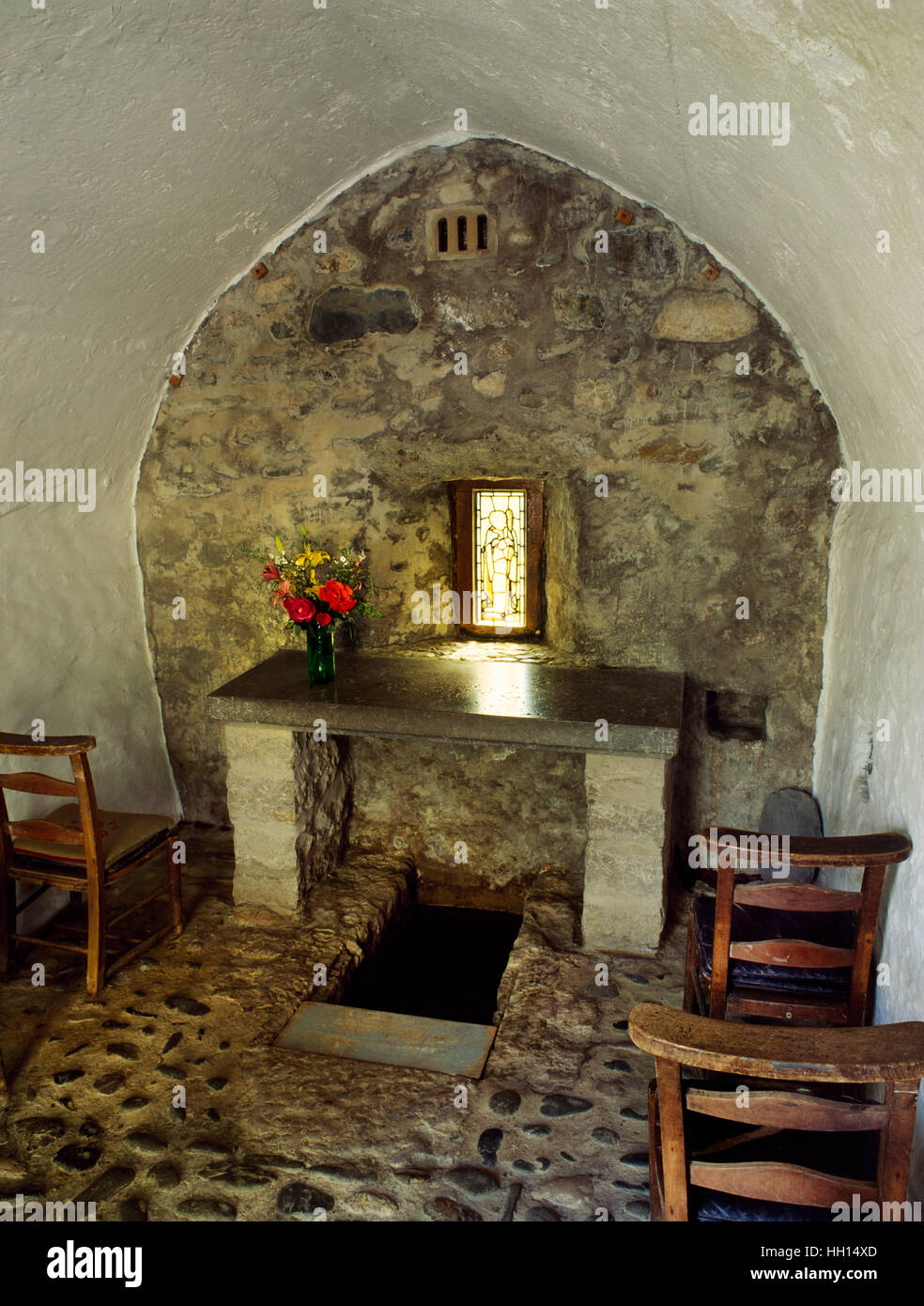 Rhos-on-Sea well chapel, said to have been founded in C5th-6th by St Trillo who built an oratory over a spring used - Stock Image