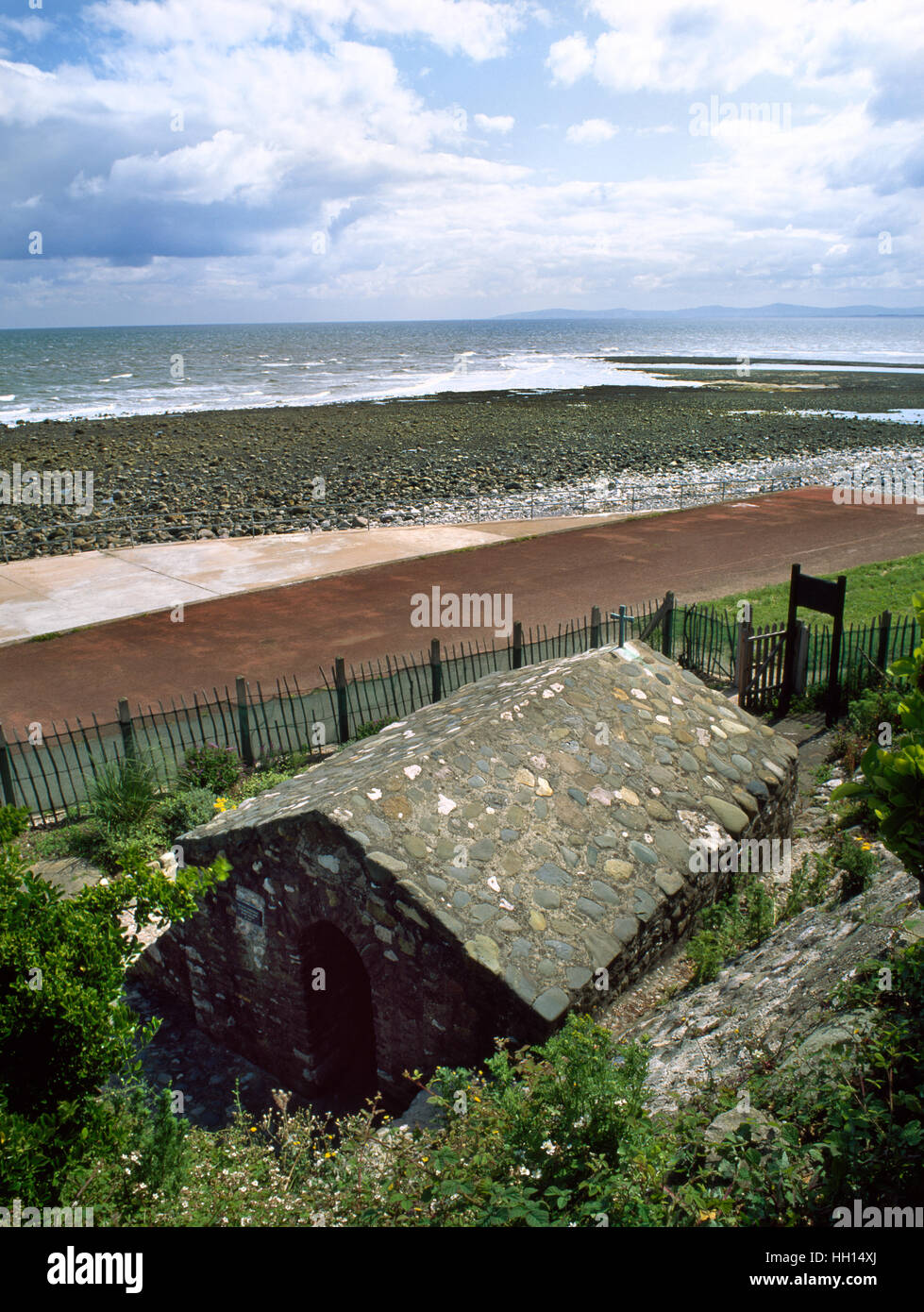 Rhos-on-Sea well chapel, North Wales, said to have been founded in C5th-6th by St Trillo who built an oratory over - Stock Image