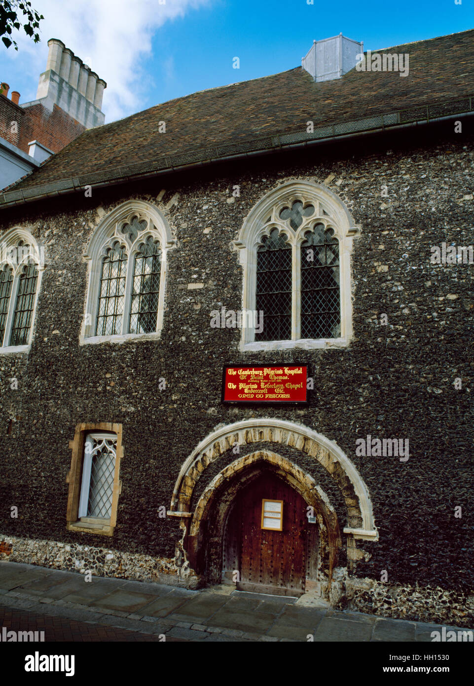 Eastbridge Hospital of St Thomas the Martyr, Canterbury: chapel & hostel for pilgrims founded 1180 & enlarged - Stock Image