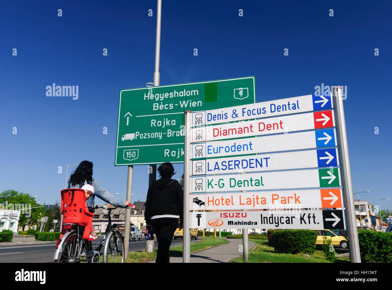"""/""""Mosonmagyarovar /""""sticker wieselburg-Hongrois-Altenburg ville Hongrie environ 5x16cm"""