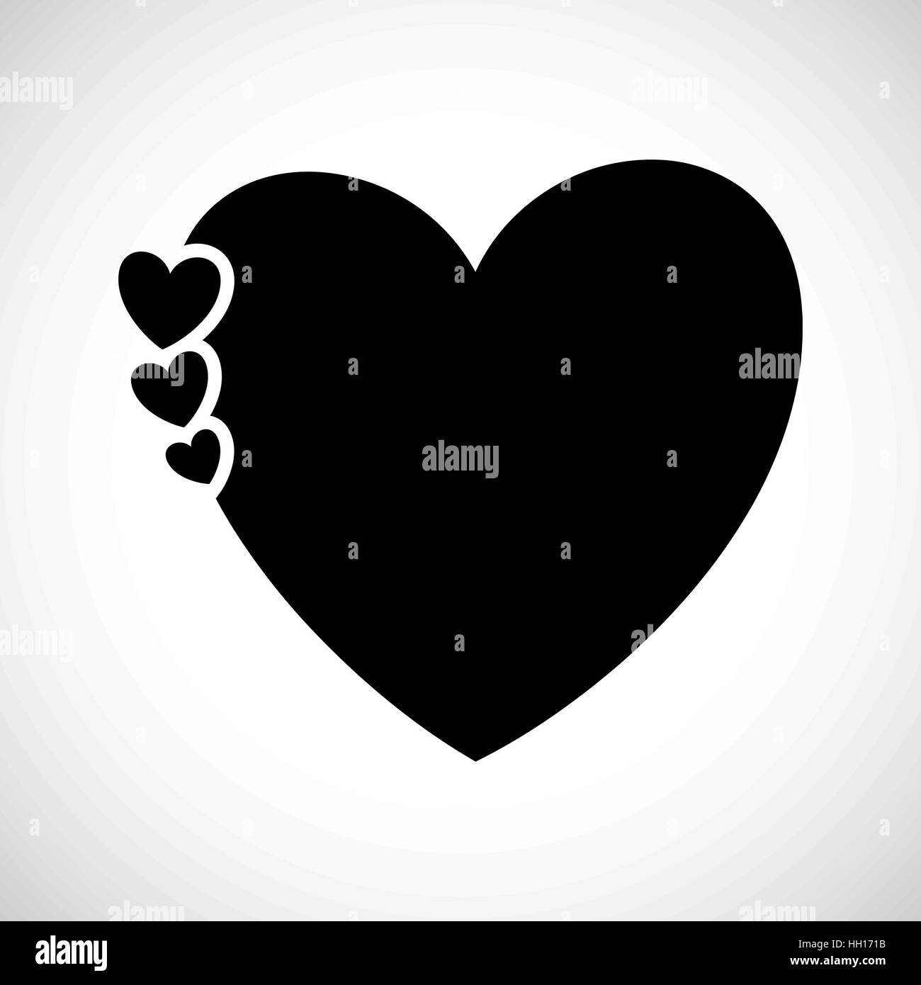 Icon Shape Three Hearts - Stock Vector