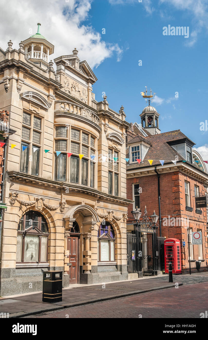 Rochester Guildhall Museum at High Street in the historical town centre, Kent, South East England - Stock Image