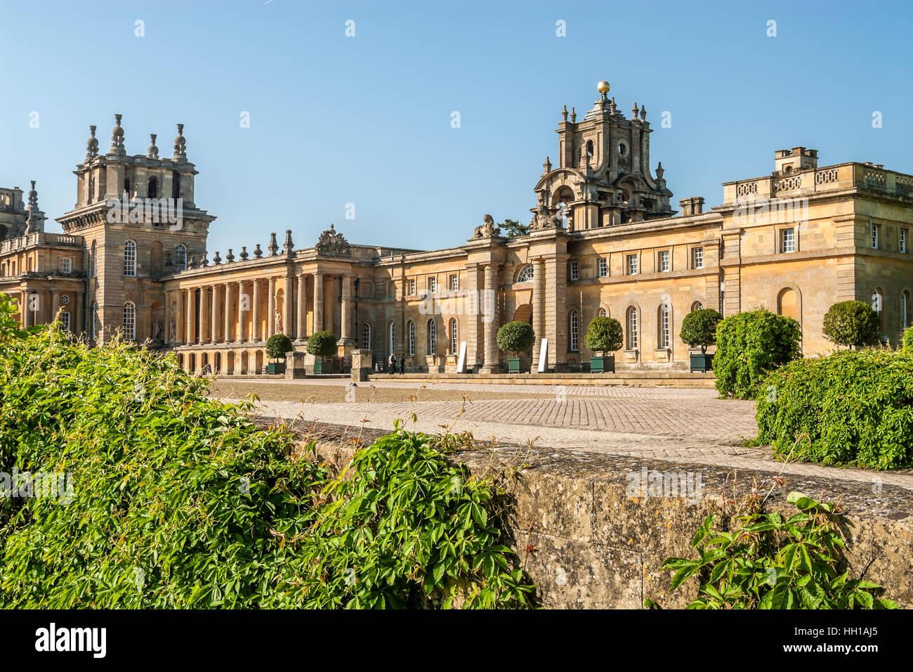 Blenheim Palace near Oxford, England Stock Photo