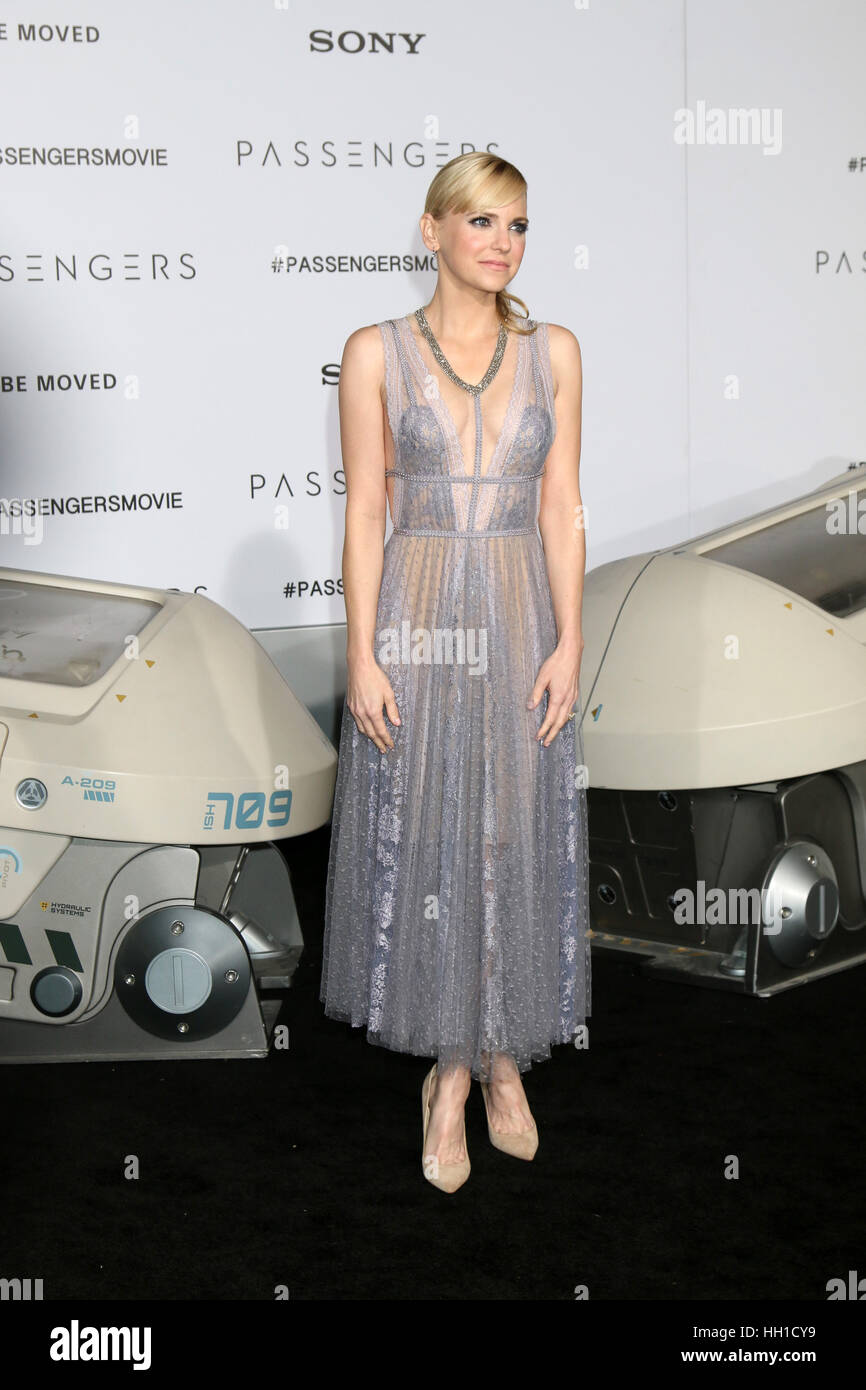 'Passengers' Premiere at the Village Theater - Arrivals  Featuring: Anna Faris Where: Westwood, California, - Stock Image