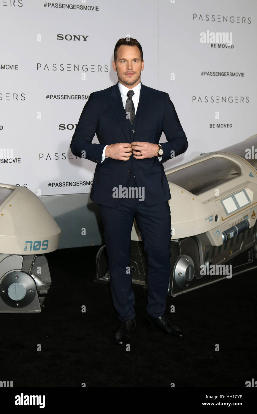 'Passengers' Premiere at the Village Theater - Arrivals  Featuring: Chris Pratt Where: Westwood, California, - Stock Image