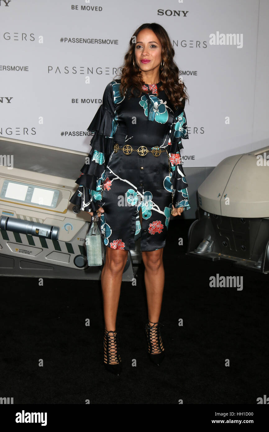 'Passengers' Premiere at the Village Theater - Arrivals  Featuring: Dania Ramirez Where: Westwood, California, - Stock Image