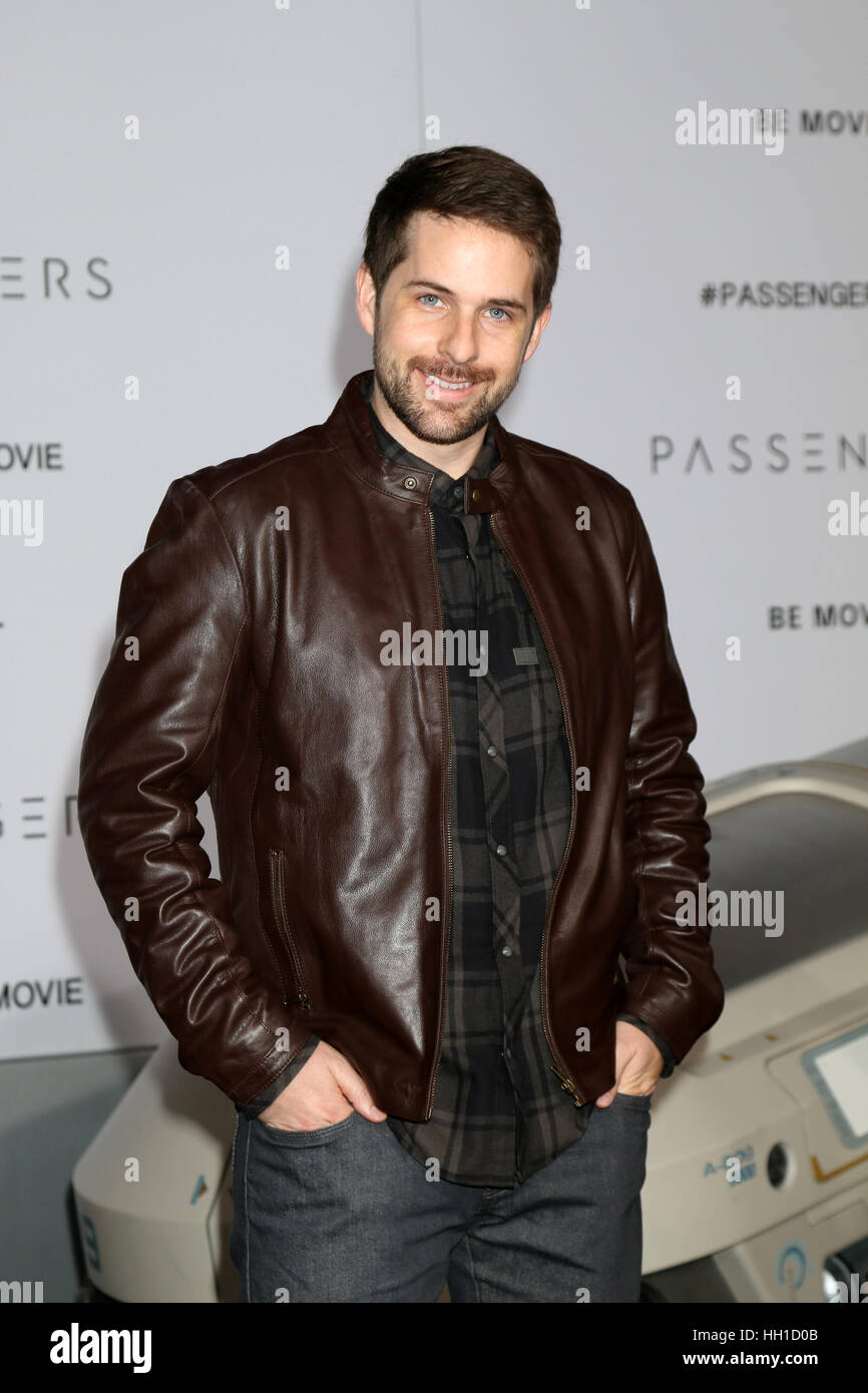 'Passengers' Premiere at the Village Theater - Arrivals  Featuring: Ian Hecox Where: Westwood, California, - Stock Image