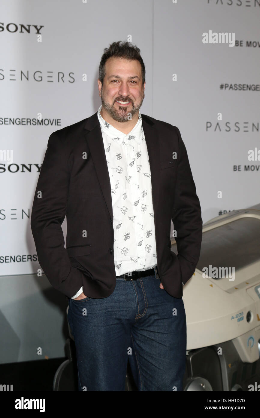 'Passengers' Premiere at the Village Theater - Arrivals  Featuring: Joey Fatone Where: Westwood, California, - Stock Image