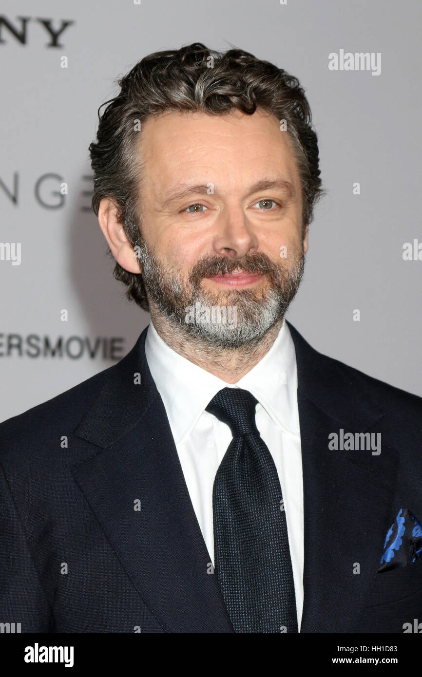 'Passengers' Premiere at the Village Theater - Arrivals  Featuring: Michael Sheen Where: Westwood, California, - Stock Image