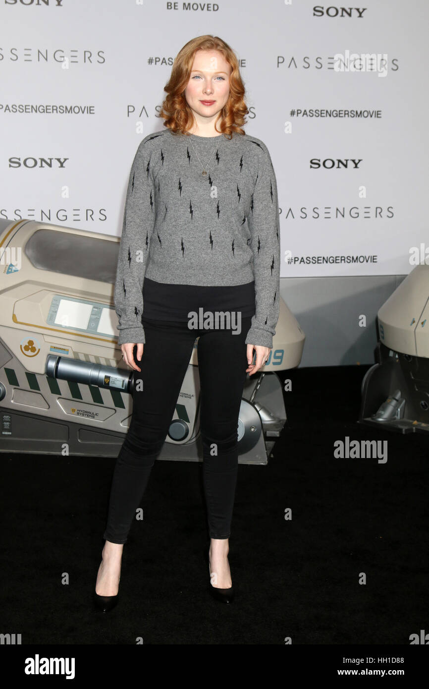 'Passengers' Premiere at the Village Theater - Arrivals  Featuring: Molly Quinn Where: Westwood, California, - Stock Image