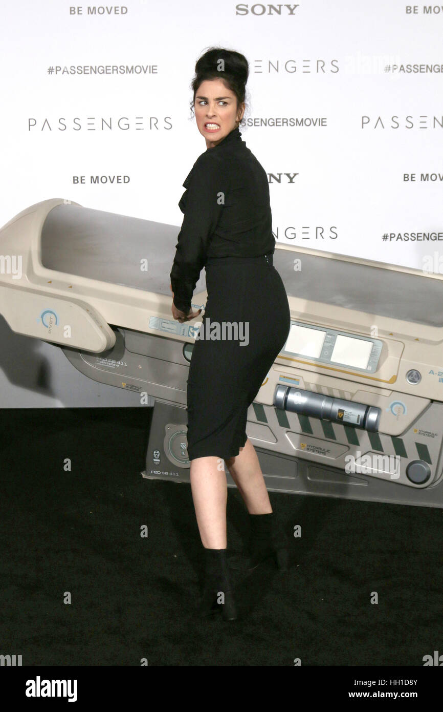 'Passengers' Premiere at the Village Theater - Arrivals  Featuring: Sarah Silverman Where: Westwood, California, - Stock Image