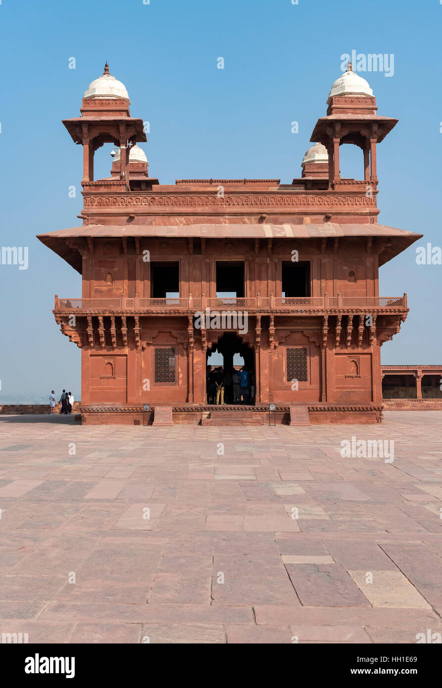 Diwan-i-Khas, private Audience Hall or Jewel House, Fatehpur Sikri, India - Stock Image