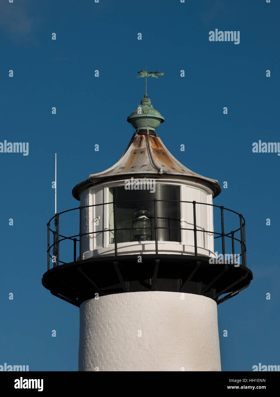 Southsea Lighthouse, at Southsea Castle, Portsmouth, Hampshire, England, UK - Stock Image