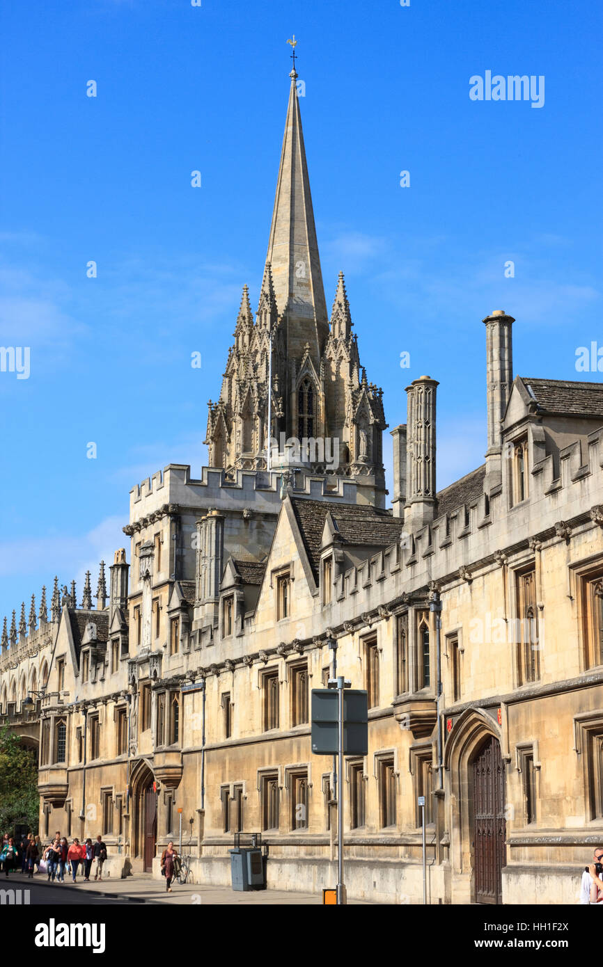 All Saints Church (now Lincoln College library) in Oxford, England. - Stock Image