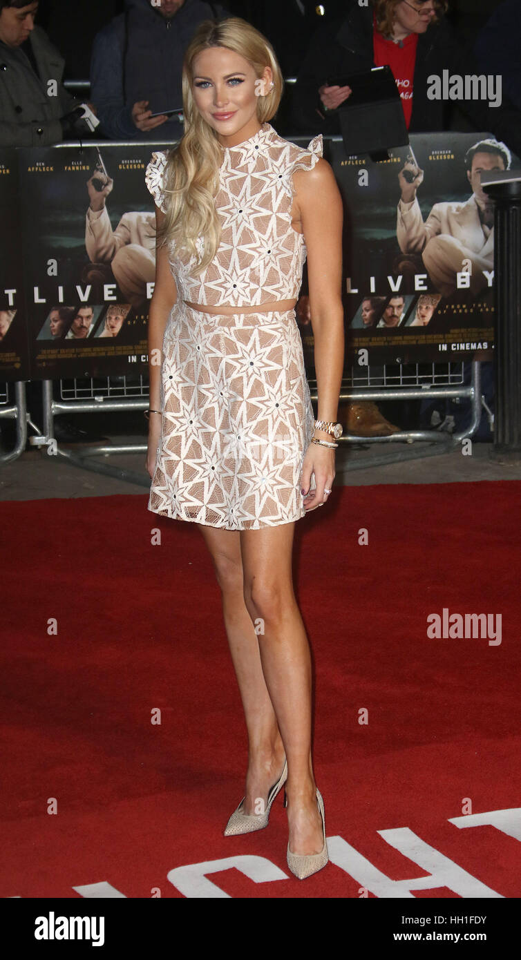 Jan 10, 2017  - Stephanie Pratt attending 'Live By Night' European Premiere, BFI Southbank in London, England, - Stock Image