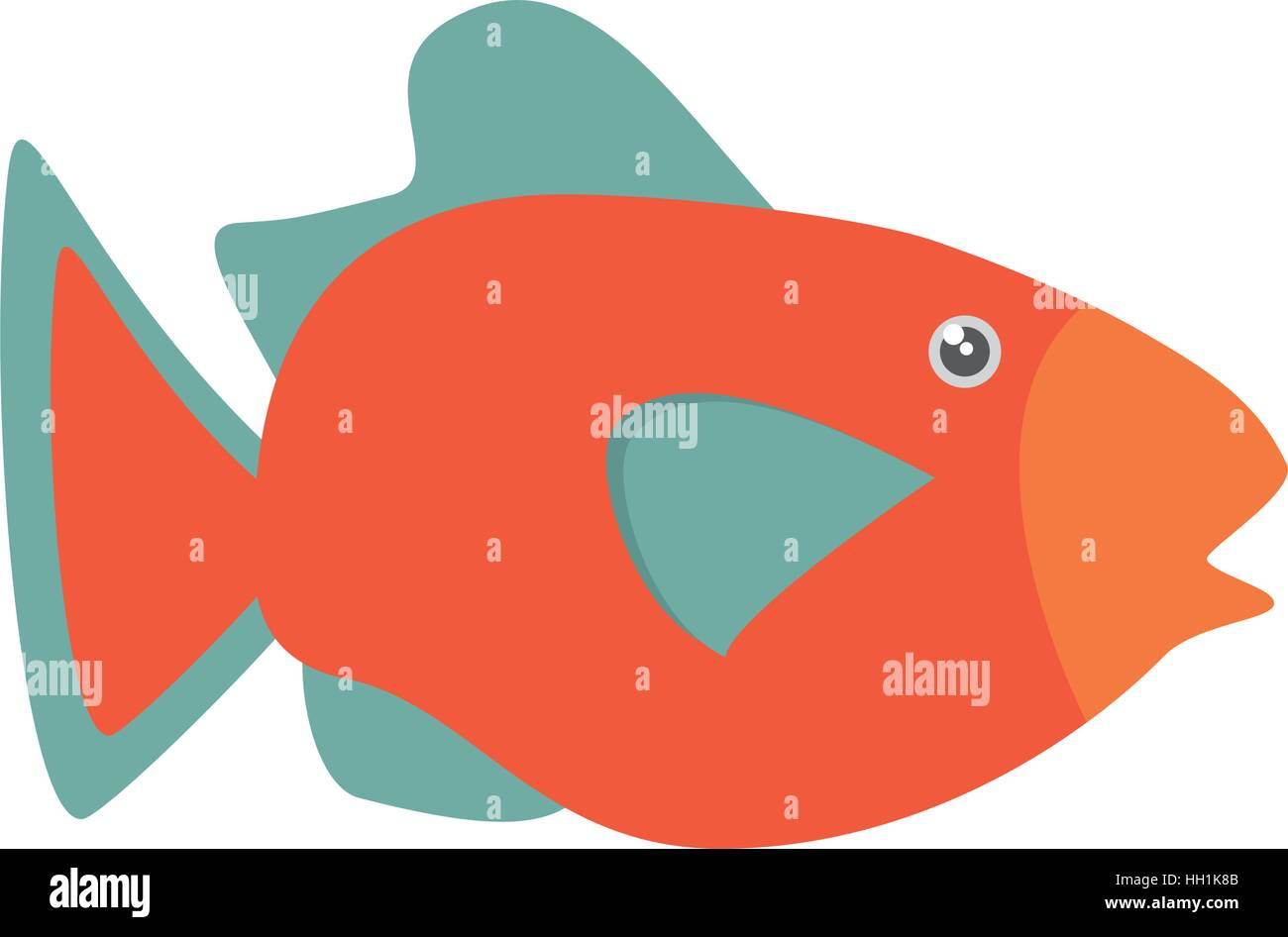 Orange Fish Stock Vector Images - Alamy