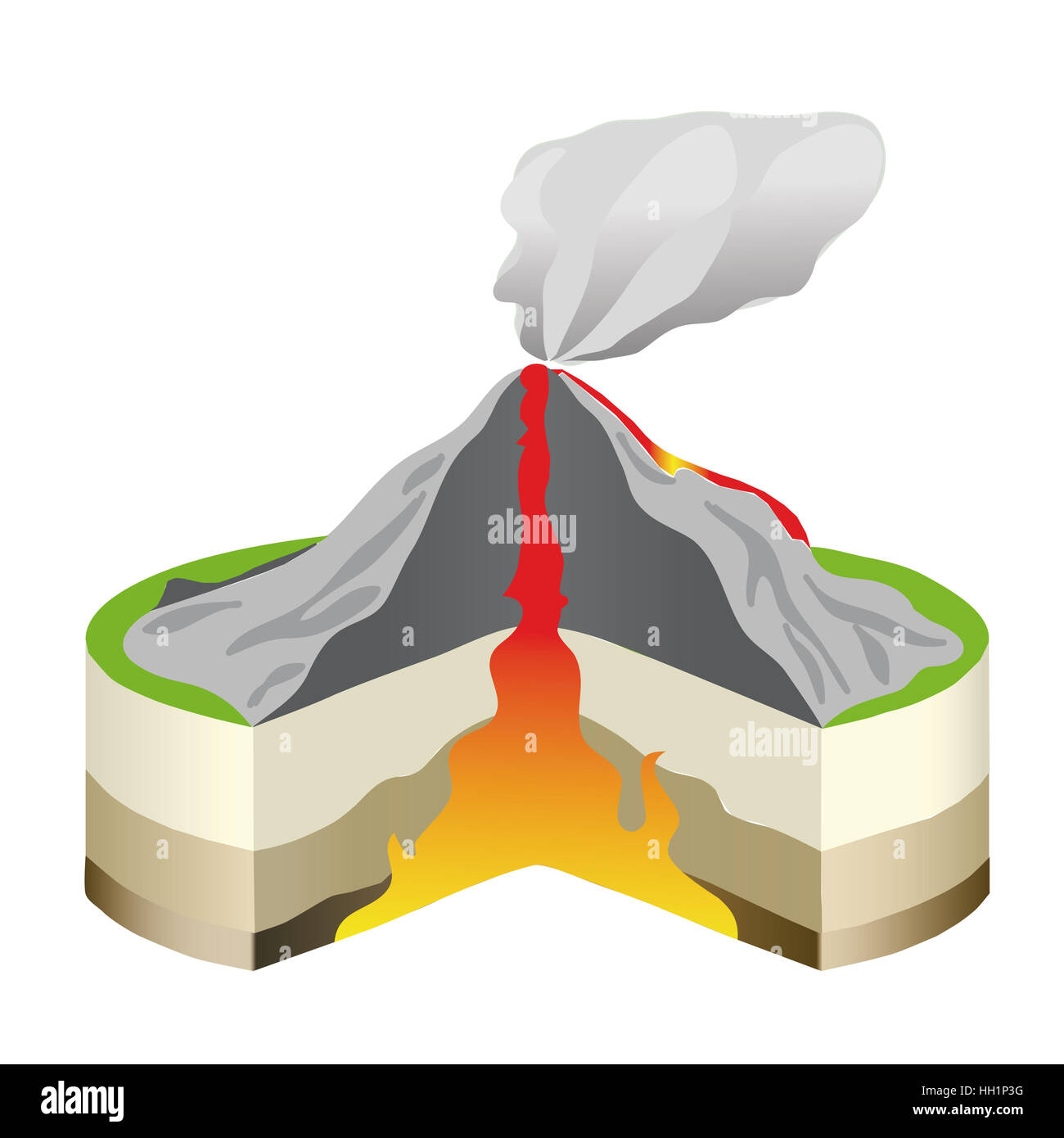 Volcano diagram stock photos volcano diagram stock images alamy volcano eruption cross section isolated vector info graphic hot lava vector illustration ccuart Gallery