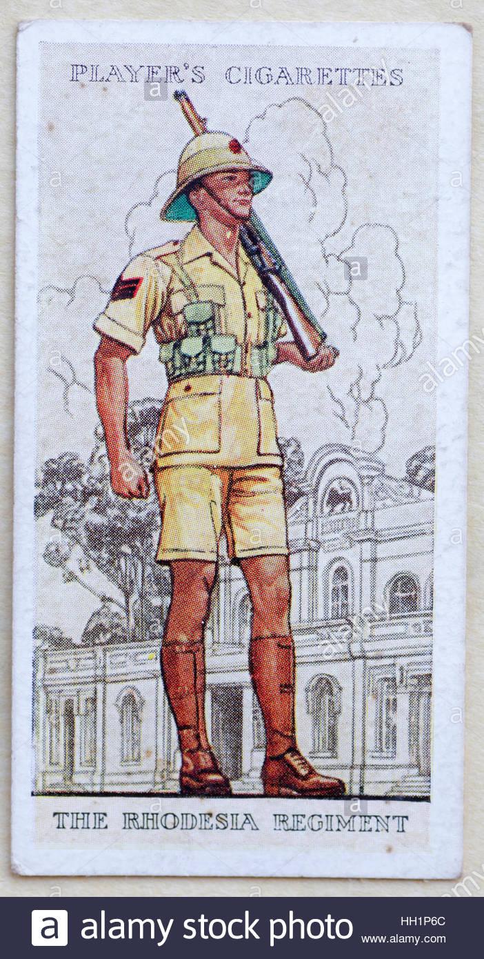 The Rhodesia Regiment in uniform - Stock Image