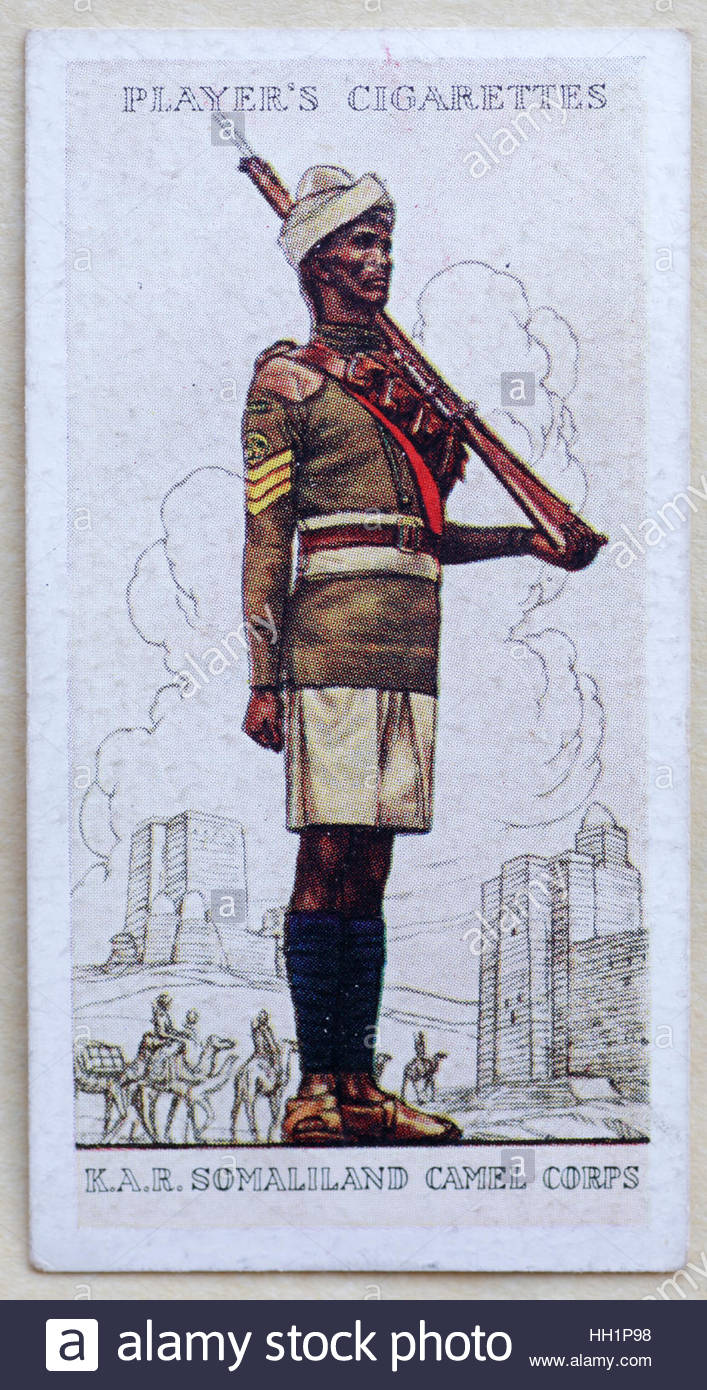 Kings African Rifles, Somaliland Camel Corps in uniform Stock Photo