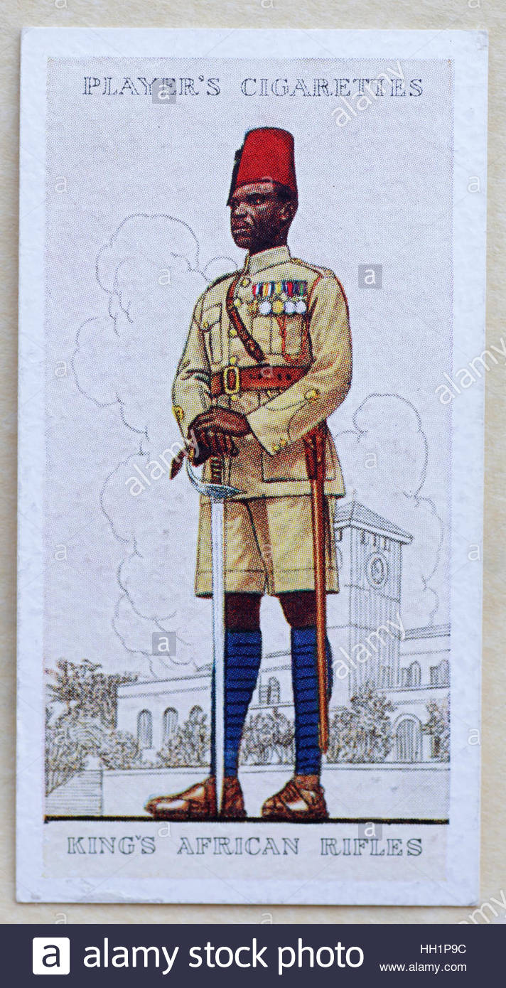 King's African Rifles in uniform Stock Photo