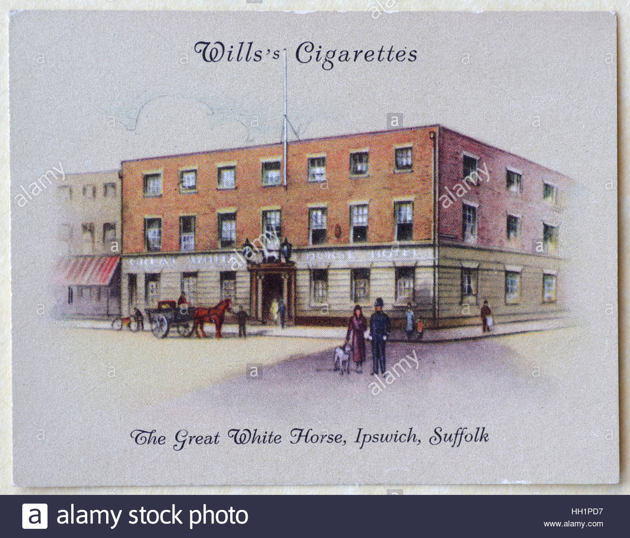 The Great White Horse, Ipswich, Suffolk circa early 1930s. - Stock Image